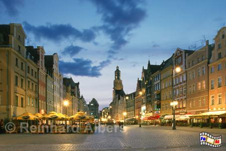 Wroclaw (Breslau) Rynek (Ring), Polen, Schlesien, Breslau, Wroclaw, Marktplatz, Elisabethkirche, Foto, Reinhard, Albers, foreal