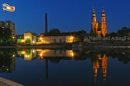 Opole (Oppeln) Kathedrale und Oder, Polen, Polska, Opole, oppeln, Oder, Odra, Kathedrale