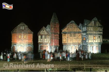 Montgothier in der Normandie mit Son et lumière, Normandie, Montgothier, Son et lumière