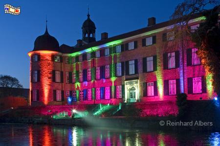 Eutin - Schloss mit Weihnachtsbeleuchtung, Schleswig-Holstein, Eutin, Schloss, Weihnachtsbeleuchtung