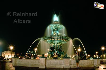 Paris: Place de la Concorde, Paris, Place de la Concorde, Brunnen, Jacob Ignaz Hittorf