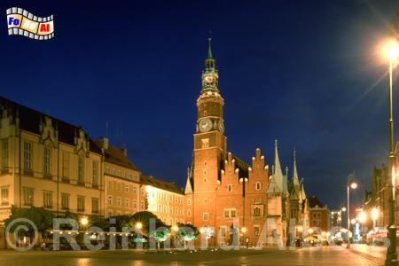 Wroclaw (Breslau) Rathaus, Polen, Polska, Breslau, Wroclaw, Rathaus, Rynek