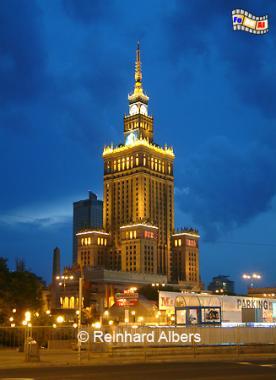Warschau Kulturpalast, Polen, Polska, Warszawa, Warschau, Kulturpalast