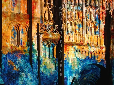 Monet aux pixels in Rouen, Normandie, Rouen, Monet aux pixel, Kathedrale