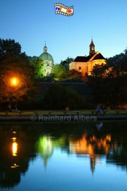 Warszawa (Warschau) - Neustadt (Nowe Miasto). Die Kirchen St. Kasimir (links) und St. Jacek., Polen, Warschau, Warszawa, Neustadt, Albers, Foto, foreal,