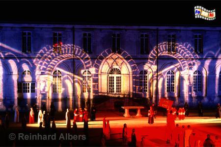 Son et lumière beim Kloster Valasse in der Normandie., Normandie, Valasse, Son et lumiere, Albers, Foto, foreal,
