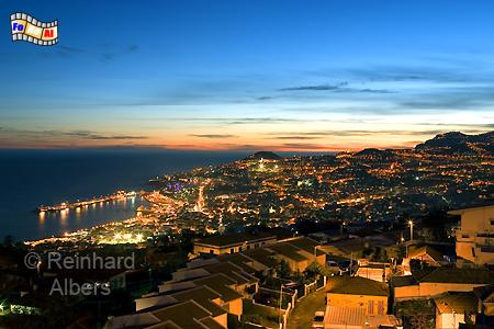 Blick auf Funchal am Abend, Madeira, Funchal, Hafen, Foto, Reinhard, Albers, foreal