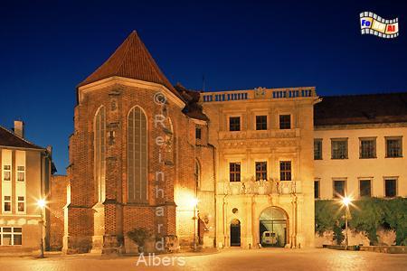 Brzeg (Brieg) - Schlossfassade, Polen, Brzeg, Brieg, Schloss, Zamek, Albers, Foto, foreal,
