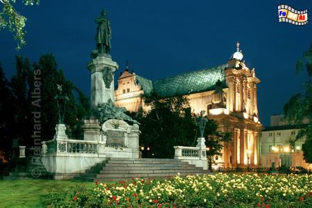 Warszawa (Warschau) Mickiewicz-Denkmal, Polen, Warszawa, Warschau, Mickiewicz, Albers, Foto, foreal,