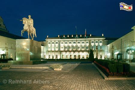 Warszawa (Warschau) Präsidentenpalast, Polen, Warschau, Warszawa, Palais Radziwill, Präsidentenpalast, Albers, Foto, foreal,