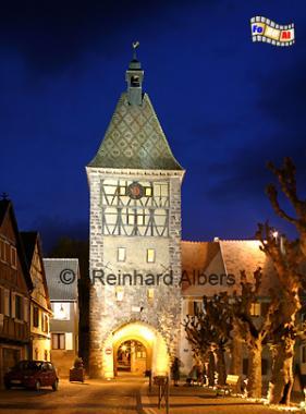 Stadttor von Bergheim im Elsass., Frankreich, Elsass, Bergheim, Stadttor, Albers, Foto, foreal,