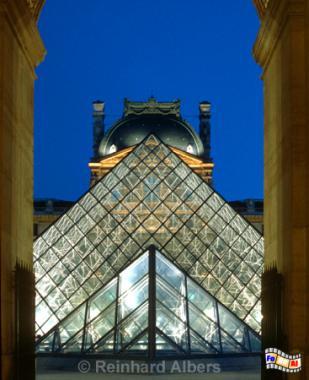 Paris - Louvre-Pyramide, Louvre, Paris, Pyramide, Albers, Foto, foreal,