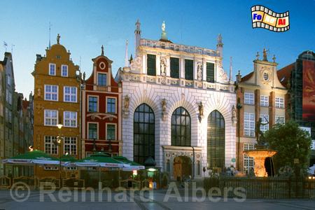 Gdańsk (Danzig) - Artushof am Langen Markt., Polen, Polska, Danzig, Gdansk, Artushof, Langer Markt, Dlugi Targ