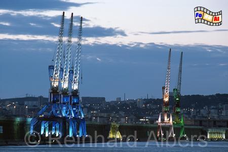 Rouen - Industriehafen, Normandie, Rouen, Hafen, Hafenkräne
