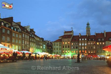Warszawa (Warschau) - Wiederaufgebauter Historischer Marktplatz, Polen, Polska, Warschau, Warszawa, Alter Markt, Marktplatz, Altstadt