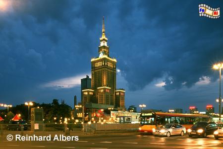 Warszawa (Warschau) - Kulturpalast, Polen, Warschau, Warszawa, Kulturpalast, Albers, Foto, foreal,