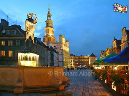 Poznan (Posen) - Rynek (Ring), Polen, Posen, Poznan, Rathaus Ring, Rynek, Albers, Foto, foreal,