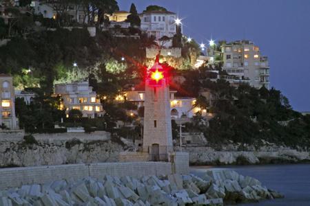 Nizza (Nice) Hafeneinfahrt mit Leuchtturm, Nizza, Nice, Foto, foreal, Leuchtturm, Hafen, Côte, Azur