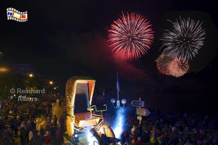 Menton - Zitronenfest mit abendlichen Festumzug und Feuerwerk, Côte, Azur, Menton, Zitronefest, Albers, Foto, foreal,