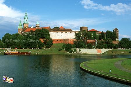Auf dem Wawel in Krakau residierten früher die polnischen Könige, Polen, Polska, Krakau, Kraków, Wawel, Weichsel, Wisła