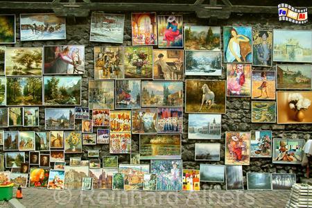 Krakau - Gemäldegalerie an der Stadtmauer neben dem Florianstor., Polen, Polska, Krakau, Kraków, Florianstor, Stadtmauer, Gemäldegalerie