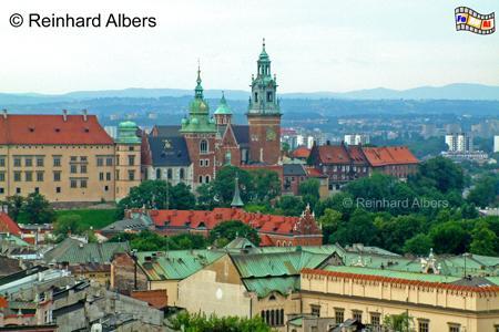 Blick auf den Wawelberg vom Turm der Marienkirche, Polen, Polska, Krakau, Kraków, Fotos, Bilder, Wawel, Kathedrale