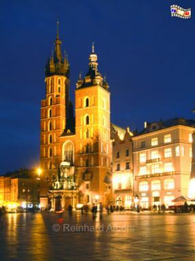 Marienkirche in Krakau, Polen, Polska, Krakau, Kraków, Fotos, Bilder, Hauptmarkt, Rynek, Główny, Marienkirche
