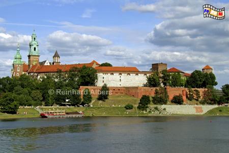 Vom Wawel-Hügel wurde Jahrhunderte lang das Königreich Polen regiert., Polen, Polska, Bilder, Fotos, Krakau, Kraków, Wawel, Weichsel