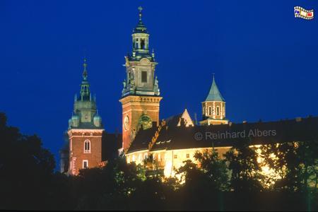 Wawel - Kathedrale zur blauen Stunde, Polen, Polska, Fotos, Bilder, Krakau, Kraków, Wawel, Kathedrale, Könige