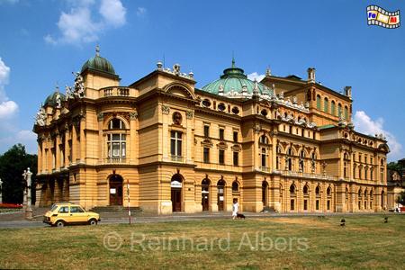 Das Słowacki-Theater (Teatr Słowackiego) wurde 1893 fertiggestellt., Polen, Polska, Kraków, Krakau, Bilder, Fotos, Słowacki-Theater, Teatr Słowackiego