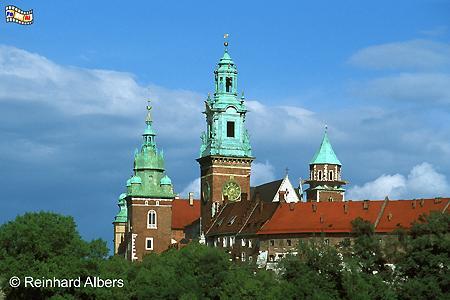 In der Kathedrale auf dem Wawel wurden früher alle poln. Könige gekrönt und bestattet., Polen, Polska, Krakau, Kraków, Wawel, Kathedrale, Könige