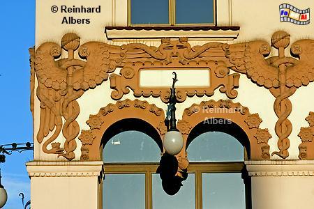 Hausfassade am Rynek Główny (Hauptmarkt), Polen, Polska, Krakau, Kraków, Fotos, Bilder, Fassade, Rynek, Główny