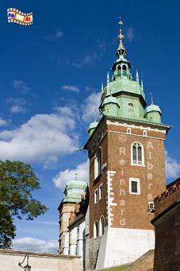Der Turm der Kathedrale auf dem Wawelberg., Polen, Polska, Fotos, Bilder, Krakau, Kraków, Wawel, Kathedrale, Turm