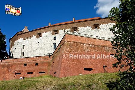 Die Festungsmauern des Wawel., Polen, Polska, Fotos, Bilder, Wawel, Burg