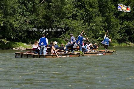 Floßfahrt auf dem Dunajec an der Grenze zur Slowakei., Polen, Polska, Fotos, Bilder, Floßfahrt, Dunajec
