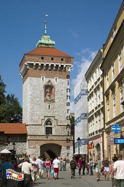 Florianstor, das letzte noch erhaltene Stadttor von ehemals 8., Polen, Polska, Krakau, Kraków, Fotos, Bilder, Florianstor, Stadttor