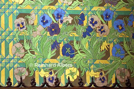 Franziskanerkirche - Wandgemälde (Stiefmütterchen) von Stanisław Wyspiański., Polen, Polska, Krakau, Kraków, Bilder, Fotos, Franziskanerkirche, Stanisław, Wyspiański. Jug