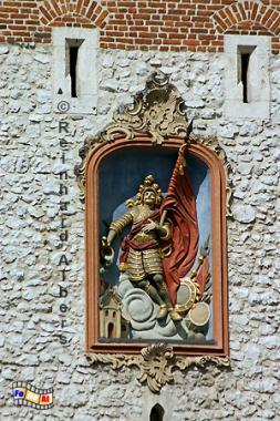 Florianstor, das einzige erhaltene von ehemals 8 Stadttoren., Polen, Polska, Krakau, Kraków, Bilder, Fotos, Florianstor