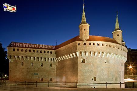 Barbakan - diese Bastion der ehemaligen Stadtbefestigung zählt zu den stärksten dieser Art in Europa., Polen, Polska, Krakau, Kraków, Fotos, Bilder, Barbakan, Bastion