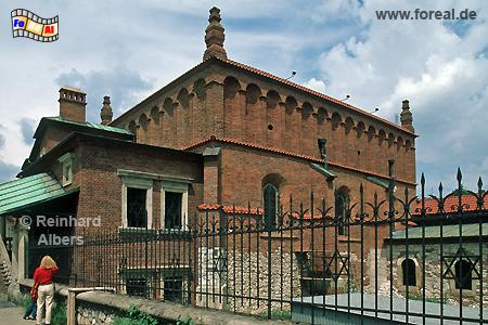 Die Alte Synagoge ist die älteste Polens und heute Sitz des Museum über Kultur und Geschichte der Krakauer Juden., Polen, Polska, Krakau, Kraków, Fotos, Bilder, Synagoge, Kazimierz, Museum