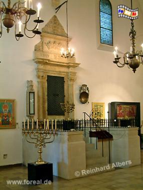 Der Gebetsraum der Alten Synagoge im Stadtteil Kazimierz., Polen, Polska, Krakau, Kraków, Fotos, Bilder, Kazimierz, Synagoge