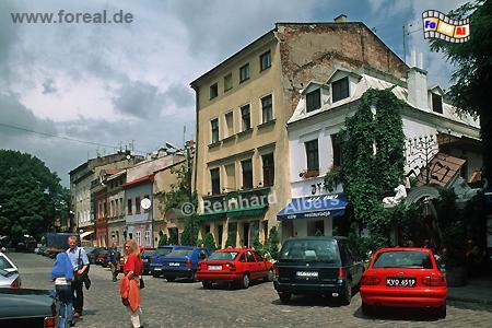Die Straße Szeroka ähnelt etwas einem Platz und bildet das Herzstück des ehemaligen Judenviertels Kazimierz., Polen, Polska, Krakau, Kraków, Fotos, Bilder, Kazimierz, Juden, Szeroka