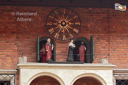 Uhrenspiel im Collegium Maius der Jagiellonen-Universität.,
