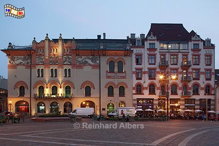 Theater (Gebäude links) am Plac Szczepańskii, Polen, Polska, Kraków, Krakau, Jugendstil, Bilder, Fotos, foral, Albers, Theater,