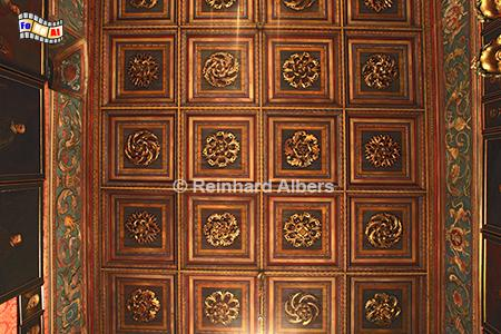 Kassettendecke in der Aula des Collegium Maius., Polen, Polska, Krakau, Kraków, Universität, Collegium Maius, Jagiellonen, Albers, foreal,