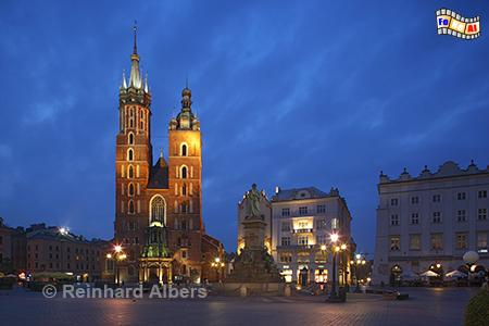 Marienkirche, Polen, Polska, Krakau, Kraków, Bilder, Fotos, Marienkirche, Hauptmarkt, Rynek, Główny,
