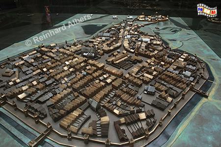 Modell des mittelalterlichen Krakaus von Norden gesehen., Polen, Polska, Krakau, Kraków, Unterirdisches Museum, Albers, Foto, foreal,