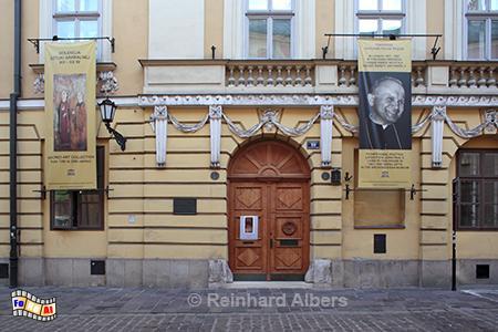 Ulica Kanonicza, in diesem Haus wohnte Karol Wojtyla vor seiner Wahl zum Papst., Polen, Krakau, Karol, Wojtyla, Kanonicza, Papst, Albers, Foto, foreal,