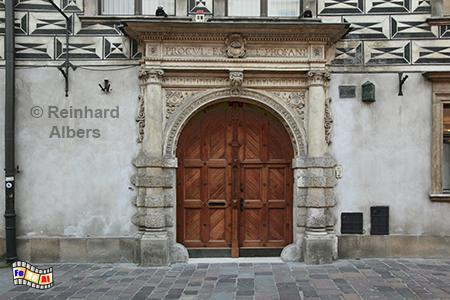 Portal in der Ulica Kanonicza, Polen, Polska, Krakau, Kraków, Kanonicza, Portal, Albers, Foto, foreal,
