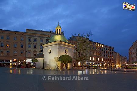 Adalbertkirche auf dem Rynek Główny (Hauptmarkt) , Polen, Polska, Krakau, Kraków, Hauptmarkt, Adalbertkirche, Foto, foreal, Albers,